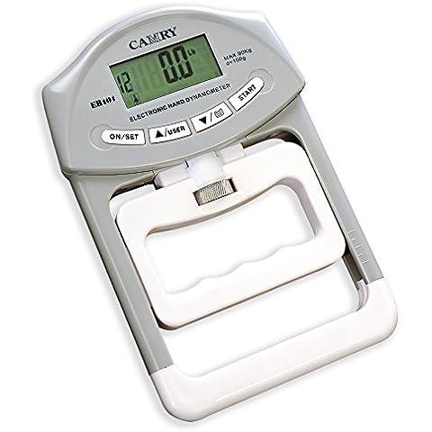 Camry - Dinamómetro de mano digital (200 lb/90 kg, agarradera, dispositivo para aumentar la fuerza de la mano, agarradera sólida, medidor de fuerza)