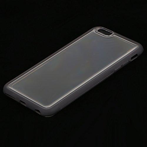 MagiDeal Custodia Cover Copertura Anti-gravità Appiccicoso Cassa Del Silicone Per iPhone 6/6S/6S Plus/7/7 Plus - Trasparente, Per iPhone 6/6S Grigio