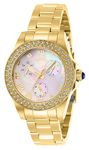 Invicta 28481 Angel Women's Wrist Watch stainless steel Quartz Mother of Pearl Dial