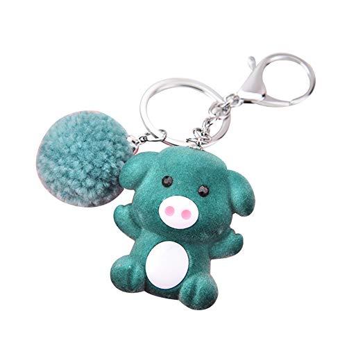 6SlonHy Kreative Fortune Piggy Anhänger Auto Keychain Schlüsselanhänger Schlüsselhalter Tasche Dekor Geschenk für Souvenir, Alltag, Schule, etc. Grün Regulär