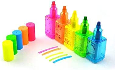 Days Off Funky Shaped Marker Highlighter Pens for Return Gift (Pack of 5) Assorted Multicolor