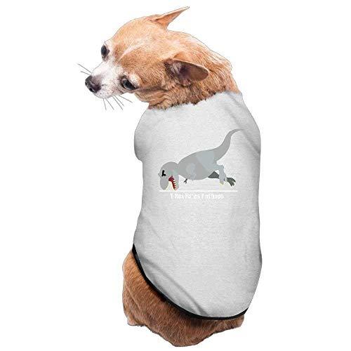 GSEGSEG Hundekleidung, Mantel, Kostüm, Pullover, Weste, für Hunde und Katzen, weich, dünn, T-Rex Hates Pull Ups 3 Größen 4 Farben erhältlich