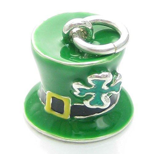 Irish Lucky Hut Sterling Silber Charm 925X 1Irland Leprechaun Hüte pjpc545