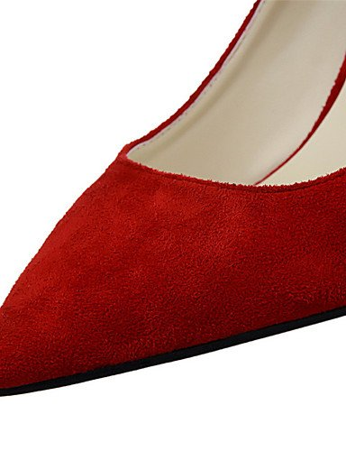 WSS 2016 Chaussures Femme-Extérieure / Bureau & Travail / Soirée & Evénement-Noir / Rose / Rouge / Gris / Orange / Bordeaux-Talon Aiguille-Talons red-us7.5 / eu38 / uk5.5 / cn38