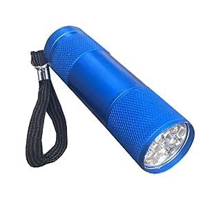 LED 9 strahlig Taschenlampe Blau