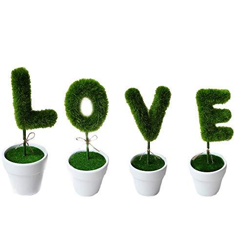 Kreative Gefälschte Blumentöpfe In Liebes Form (Für Baby-dusche Ein Mittelstücke)