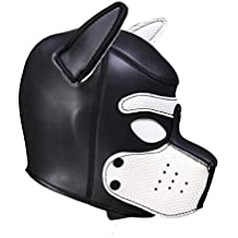 AmaMary Sexy Cosplay Cachorro máscara, Sexy Cosplay Juego de rol Perro Cabeza Llena máscara Acolchado