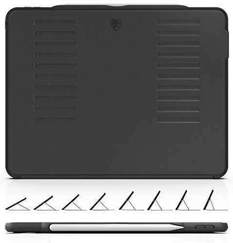 ZUGU Case - 2018 iPad Pro 12,9 Zoll - sehr schützend, Aber dünn + praktischer magnetischer Ständer + Sleep/Wake Cover schwarz schwarz -