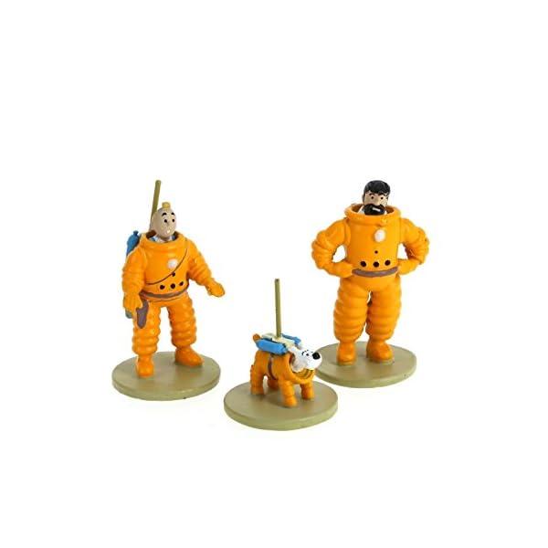 Moulinsart Set de Figuras Tintín, Haddock y Milú cosmonautas 46305 (2016) 1