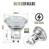 Lighting EVER 200060-WW-EU-10 LE GU10 LED Light Bulbs, 50W Halogen Bulbs Equivalent, 4W, 350lm, Warm White, 2700K, 120° Beam Angle, Pack of 10 Bild 2