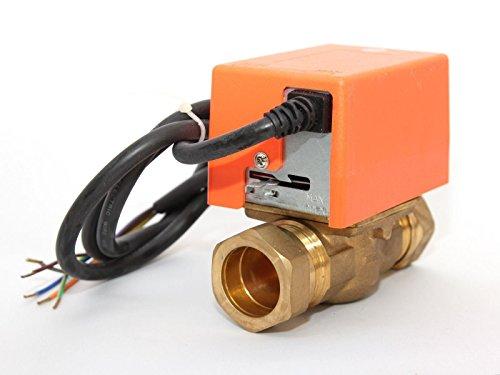 2Port Solar 3/4BSP Comp. Irische Rohr Motorisiertes Zonenventil ACTUATOR Solar Thermo-Systemen (Ventil-endschalter)