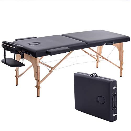 XKRSBS Lettino da Massaggio Lettino da Massaggio Pieghevole 180cm Lunghezza 60 Cm Lettino da Massaggio Spa Portatile Professionale Tavolo Pieghevole Arredamento da Salone in Legno