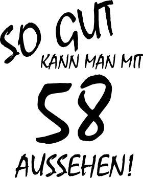 Mister Merchandise Cooles Herren T-Shirt So gut kann man mit 58 aussehen! Jahre Geburtstag Navy