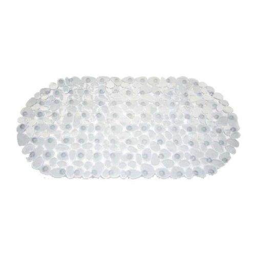 Duscheinlage Duschmatte Antirutschmatte Badewanneneinlage Sicherheitseinlage Antibakteriell 100% PVC Grösse 67x35 cm (Weiss)