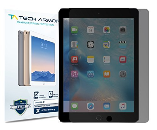 Tech Armor - Displayschutz für Apple iPad Air Apple iPad Air 2 / iPad Air/NEW iPad 9.7 (2017) - 4-Wege 360° Blickschutz - 1 Stück -