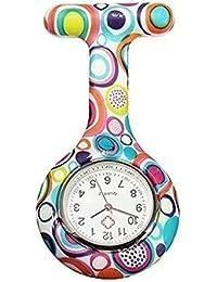 Reloj de bolsillo de silicona con diseño de enfermera de FOB