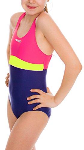 Aqua Speed Mädchen 5908217660763Emily Schwimmen Anzug, Violett/Pink/Lime, Größe 146