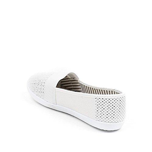 Ideal Shoes, Damen Slipper & Mokassins Weiß