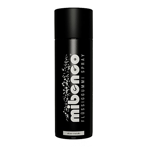 Preisvergleich Produktbild mibenco 71420027 Flüssiggummi Spray/Sprühfolie, Silber-Metallic Matt, 400 ml - Neue Farbe und Schutz für Oberflächen und zum Felgen lackieren