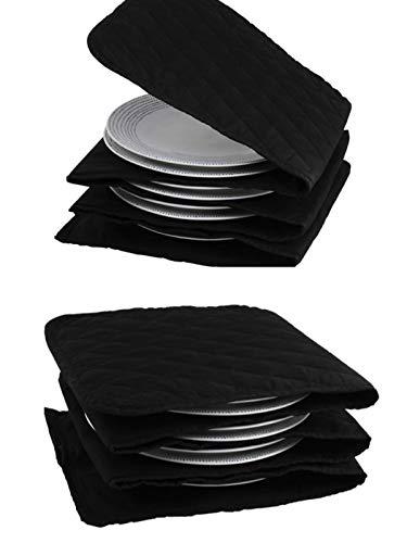 Calentador de platos eléctrico, 10 platos, 30 cm, 5 capas algodón, lavable, tiempo de calentamiento...