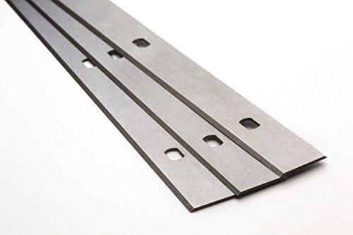 12 Stück Hobelmesser Wendemesser Systemhobelmesser Hohe Qualität - Hochleistung - Made in Germany - Hobelmaschine (310x18,6x1mm (5 Löcher 60/65mm Lochabstand) Hammer)