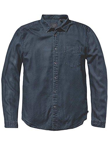 Camicia Maniche Lunghe Globe - Goodstock Vintage blu formato: S (Small)