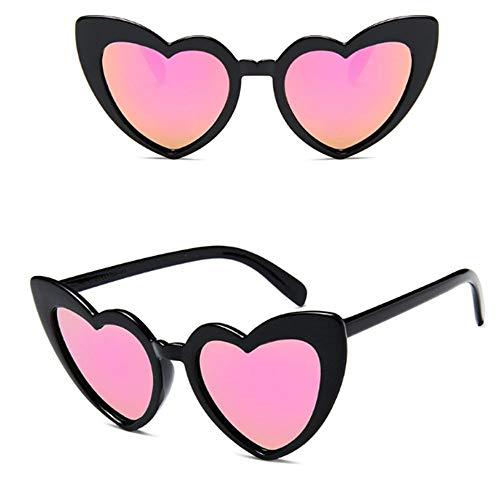 YUHANGH Herz Sonnenbrille Frauen Markendesigner Cat Eye Sonnenbrille Retro Love Heart Shaped Glasses Ladies Shopping Sunglass