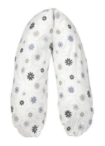 Claribello - Coussin de maternité/allaitement/positionnement - épeautre - XL 190 x 40 cm - fleurs