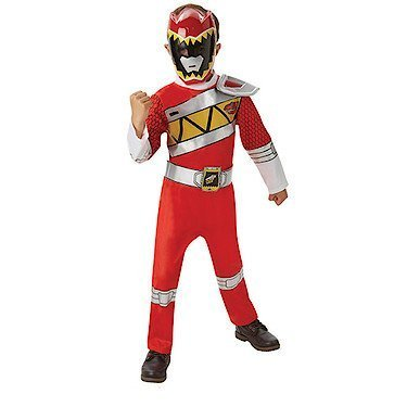 POWER RANGERS ~ Deluxe Red Power Ranger (Dino Charge) - Kids Costume 3 - 4 years by Rubies (Red Ranger Deluxe Kostüm)