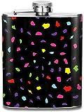 Eybfrre Colorful Leopard Print Stainless Steel Flask Portable 7OZ Hip Flask Pocket Flagon Whiskey Wine Flagon Mug