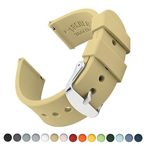 Archer Watch Straps | Ricambio di Cinturino di Silicone per Uomo e Donna, Caucciù Sgancio Rapido per Orologi e Smartwatch |...