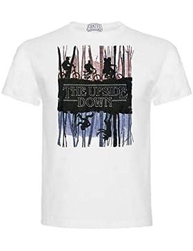 The Fan Tee Camiseta de Stranger Things Serie Retro TV 80 Niños 11-12Años Blanco