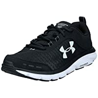 Under Armour Charged Assert 8 Men's Running Shoes, Black (Black/White), 43 EU