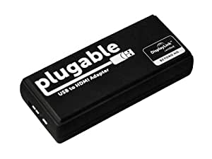 Plugable® USB 3.0 to HDMI / DVI Video Graphics Adapter Card for Multiple Monitors up to 2560x1440 (HDMI) / 1920x1200 (DVI). DisplayLink DL-3500 Chipset - Supports Windows 8.1, 8, 7, and XP