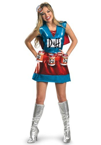 "Simpsons Costume, Womens Duffwoman Deluxe Outfit, Medium, (USA 8 - 10), BUST 35 - 37"", WAIST 27 - 29"""