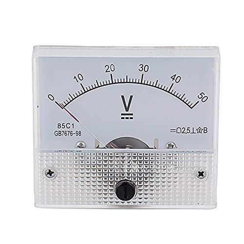 85C1 DC Voltmeter, rechteckig, analoge Anzeige, Volt-Spannungsprüfer Modell 5V 10V 15V 20V 30V 50V 75V 100V 150V 200V 250V 300V 450V 500V Mechanical Gauge 1Pcs 64 * 56mm -