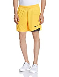 Puma Mens Synthetic Shorts (4050795617712_701000071_M_team yellow-black)