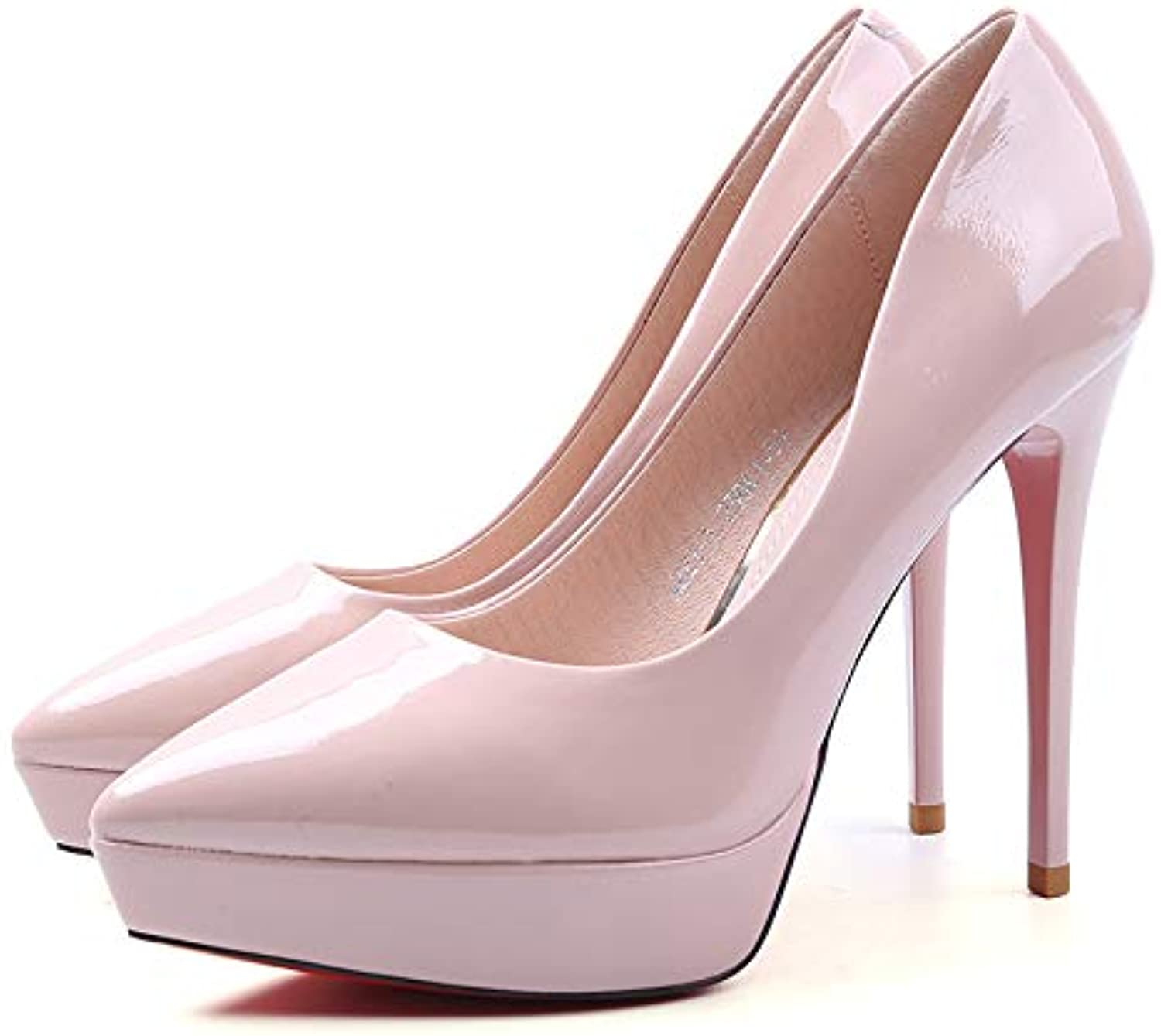 c41b13b02721 FLYRCX European fashion pointed pointed pointed shallow mouth temperament  single shoes temperament elegant sexy stiletto heels... B07HQXMXZF Parent  14840d