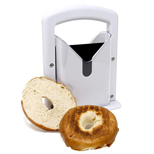 Bagel Slicer Guillotine | Perfectly Sliced Bagels Every Time | Bread Slicing Mandolin | Muffin & Breakfast Food Cutter…