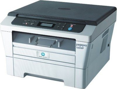 Konica Minolta - Pagepro 1580MF Multi-function Laser Printer (White & Grey)