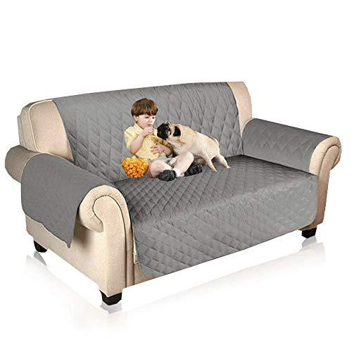 Aolvo divano copertura impermeabile copertura della sedia divano mobili doppia copertura cane/gatto letto con rivestimento del divano 116 * 188 cm doppio sedile - grigio