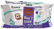 Himalaya Gentle Baby Wipes - 72 Pieces (Pack of 2)