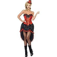 Smiffy's - Disfraz de bailarina de burlesque para mujer, talla M (42336M)