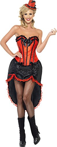 Smiffy's - Burlesque Dancer Kostüm Tänzerin Erotik Kleid schwarz rot Damen Gr. (Kostüme Kleid Burlesque)