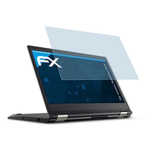 atFolix Schutzfolie kompatibel mit Lenovo ThinkPad T470 Folie, ultraklare FX Bildschirmschutzfolie (2X)