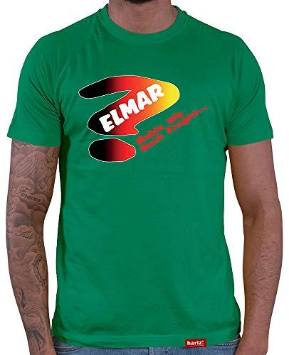 (HARIZ  Herren T-Shirt Elmar Haben Wir Noch Fragen Darten Dartscheibe Dart Pfeile Sport Fun Trikot Plus Geschenkkarten Grün M)