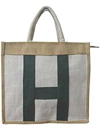 Haastika White Jute Shopping Bag(14 Inch X 13 Inch)Pack Of 1