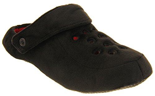 Pantofole Dunlop Mens Zoccoli Nere