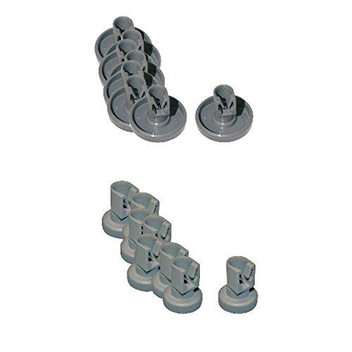 SET 2 x 8 Korbrollen oben + unten Geschirrspüler AEG 5028696500 und 5028696700