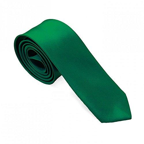 1 cravatta uomo elegante per camicie abiti e da cerimonia nuziale jeans 21 colori differenti, colore:verde scuro